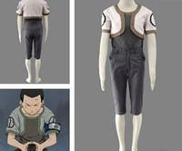 al por mayor traje de naruto joven-Verano japonés Anime Naruto Cosplay Jóvenes Nara Shikamaru Costume T-shirt + coat + pantalones por juego para adultos