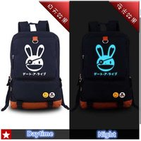 anime flower girl - Anime DATE A LIVE Yatogami Tohka Cosplay Blue Luminous Printing Tactical Backpacks for Teenage Girls School Bags for Teenagers