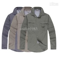 Wholesale Outdoor Sport Quick Dry Detachable Men s shirts Hiking Camping Fishing Casual Full short sleeve Dual purpose Fast Drying T Shirt