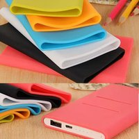 banks sleeve designs - New Arrived Beautiful Design Silicone Soft Case Cover Protector Cover Sleeve for Xiaomi Power bank mAh Colors