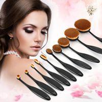 Wholesale 10PC Set Professional Makeup Brush Kits Shaped Eyebrow Foundation Power Face Lip Eyeliner Brushes Sets Makeup Beauty Tools Sets