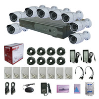 Wholesale VGSION CAMERAS Security System Kit With Power Adapter Cable TB Hard Drive Cameras And Video Recorders