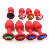 Wholesale 70 mm Silicone Mini Anal Sex Toys For Women Men Erotic Butt Plugs Crystal Jewelry Adult Booty Beads Anus Products FSEX110