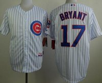 Wholesale Chicago Cubs Kris Bryant shirts jersey white blue gray size small xl