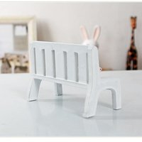 Wholesale New Fasion Cute Dollhouse Miniatures Wooden Garden Outdoor Chair Seat Bench Accessories Furniture Park