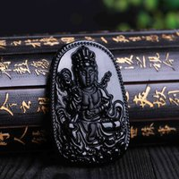 aquarius men - quot Best Sellers quot New Product Black Obsidian Aquarius A Buddism Godness Guanyin Pendeloque Cut Exquisite Patron Saint Pendeloque Cut Men And