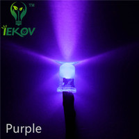uv violet 5mm achat en gros de-1000pcs High Quality Factory Price Pre-Wired Resistance 5MM Round Top Purple / UV 12V DC 20CM LED pour voiture DIY Lamp Emitting Diode Wholesale