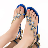 shoe clips - 2016 Spring Summer New Flat Leather Sandals Diamond Clip Toe Fashion Women Shoes Sandals Large Size Low heeled Leisure Sandals