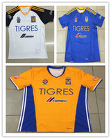 Wholesale DHL shipping Tigres UANL soccer jersey thai quality Mexico club Tigres UANL yellow blue white jersey GIGNAC soccer football jersey
