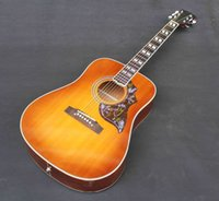 Wholesale new arrivel Hummingbird acoustic guitar can put on logo as your request