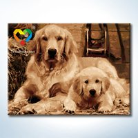 Wholesale Cute Dog DIY Painting Baby Toys x80cm Digital Canvas Oil Painting Kids Drawing Toys Set for Home Decoration