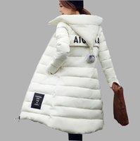 Wholesale 2016 New Winter Jacket Women Hooded Thicken Coat Female fashion Warm Outwear Cotton Padded Long Wadded Jacket Down Coat Parka