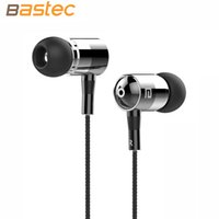 Wholesale Original Luxury Stereo Bass mm Braided Wired Metal In Ear Headphones with Built in Microphone Earphone for i phone Samsung etc