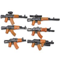 ak parts - Military Series AK Weapons set Parts For Army City Police Swat Minifigures Building Blocks Models Bricks Toys