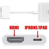 apple ipad av - New Brand Original Genuine Light to AV HDMI HDTV TV Digital Cable Adapter For iphone S s For ipad for iphone iphone plus