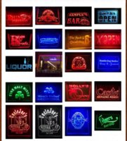 Wholesale Big Custom Size x mm Design Your Own LED Light Sign Custom Neon LED Signs Plastic Crafts Bar open Dropshipping