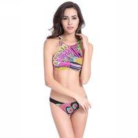 bandeau bikini sale - Sexy Printing Swimsuit Bikinis with Padded Push up Biquinis bandeau Women Hot sale