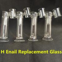 Wholesale G9 H enail Replacement Pyrex Glass Tube Glass Bong Pipe Wax Dry Herb Vaporizer Dabber Nail Device Portable Hnail Glass Tube