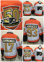 Wholesale 2016 new th Anniversary Philadelphia Flyers Hockey Jerseys Claude Giroux Voracek Simmonds Shayne Gostisbehere Winter Classic J