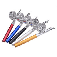 alloy threaded rod - Good Deal Telescopic Fishing Rod Set Pen Shape Aluminum Alloy Portable M Reel Spool Thread Starter Ice Fishing Rods YYG042
