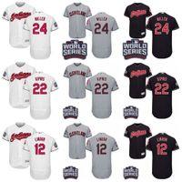 Baseball andrew christian - 2016 World Series Patch Jersey Men s Cleveland Indians Andrew Miller Jason Kipnis Francisco Lindor Corey Kluber Baseball Jerseys