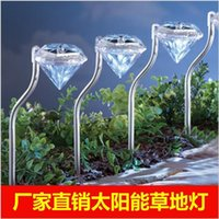 Wholesale Waterproof outdoor LED solar garden light for Home land in light Diamond garden lights hot style freeshiping