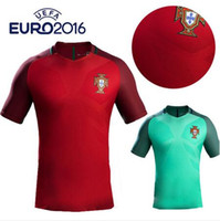Wholesale New Portugals jersey soccer Home Red Away Green Ronaldo NANI J MOUTINHO H POSTIGA R MEIRELES Portugals football shirt