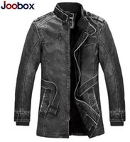 Wholesale NEW Brand Fur Leather Jacket For men coat Fashion Jackets Autumn and Winter coats Casacos Motorcycle Jackets Jaqueta couro Men Overcoat