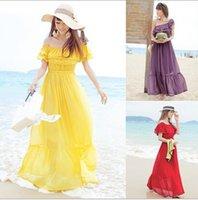 bench beach - 2016 Best sell bench dress Hot new Summer women sexy chiffon long dress casual beach dresses