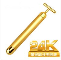 Wholesale Technology From Japan K Gold Face Skin Massage Roller Body Firming Massager Electric Energy Beauty Bar MR002 P7072