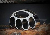 Wholesale new F S THICK CHROMED KIRSITE BRASS KNUCKLES DUSTERS