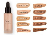 liquid minerals - Factory Direct Unique Touch Mineral Liquid Foundation Professional Makeup Foundation Waterproof Face Concealer Liquid Colors