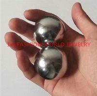 baoding balls exercises - 45mm Baoding Health Ball Chinese Polished Iron Physical Ball Chime Chrome Healthy Handball Exercise Meditation Stress Relief