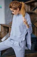 Wholesale Gagaopt Irregular Women Tracksuits Sets Fashion Women s Sweatshirt Moleton Feminino Hoodies Warm Fleece Suit tracks