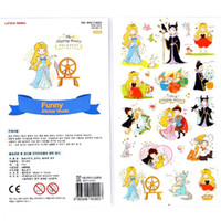 beauty supply retail - New cute Cartoon Sleeping Beauty series PVC Sticker set hot sell decoration packing stickers school office supplies retail