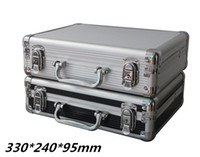 Wholesale Tactical box aluminium tool case MM magic props file storage Hard carry tool box Hand Gun Locking Pistol