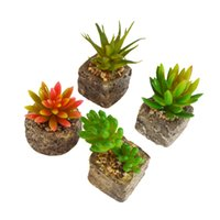 artificial plants for sale - Set of Hot sale New designed high quality mini cute artificial succulent plant with resin pot artificial flower for home decor