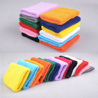 Wholesale 2016 NEW Unisex Sports Safety Tennis Wristbands Outdoor Basketball Training Wrist Support Absorbent Practical Cotton Elastic Towel Wrist