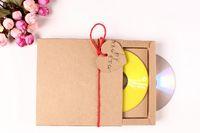Wholesale cm Kraft Paper Wedding Box CD Bag CD Sleeve Box of DVD Bag Customize Logo