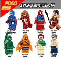 baby scorpions - 8pcs PG8017 Super Hero Marvel Minifigures Scorpion SDCC Captian America Stan Lee building block baby toys compatible with toyse