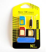 al por mayor iphone accesorios de teléfonos celulares al por mayor-Metal de diseño de teléfono celular 5in1 SIM adaptador al por mayor de accesorios de telefonía móvil para IPhone samsung Nano tarjetas Micro tarjetas tarjetas estándar