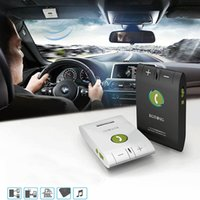 Wholesale 2016 Latest Hands Free Bluetooth Car Kit Wireless Handsfree Speakerphone Auto Transmitter MP3 Player With Car Charger EGTONG E