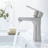 bathroom set nickel - Basin faucet stainless steel material ceramic spool sets under the sink installation bathroom hot and cold dual use faucet