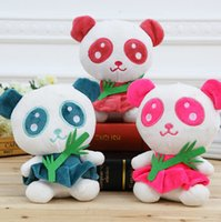 bamboo doll - Hot sale plush Panda Holding Bamboo Leaves Boy Girl Cute Soft Stuffed Kongfu Panda Animal Doll Toys For Children Panda Souvenir