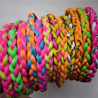Wholesale Germanium titanium ropes necklace tornado braided Sports X45 Necklace X50 Tornado college baseball OEM size
