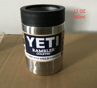 Wholesale 2016 Hot Sale oz Stainless Steel Colster can Yeti Coolers Rambler Colster YETI Cups Cars Beer Mug Insulated Koozie oz in Stock