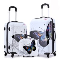 Wholesale New Hot Sales Women Butterfly ABS Trolley Suitcase High Quality Luggage Sets Inch A Set