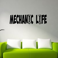 art craftsman - Colorful Hand Carved Lettering Arts Craftsmen Living Funny Decorative Vinyl Wall Stickers Decals Suitable For Bedroom Living Room