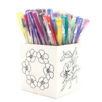 best gel ink pen - Unique Gel Ink Pen with DIY Wood Pen Container Make your own unique arkworks Best gift for children MH061