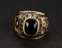 antique mens gold rings - New Brand Vintage Jewelry Black Rings Mens Personalized Retro Antique Sliver Plated Inlay crystal Ring